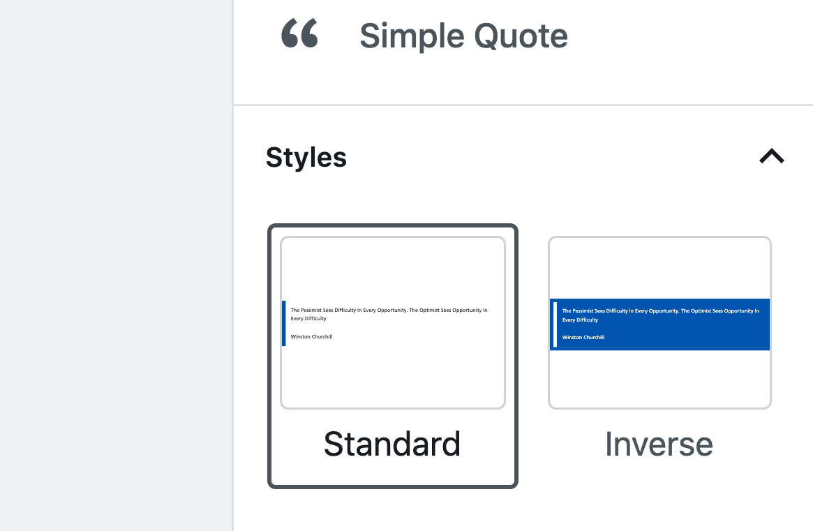 Style options for Simple Quote
